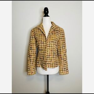 Lafayette 148 New York Tweed Blazer Wool Petite